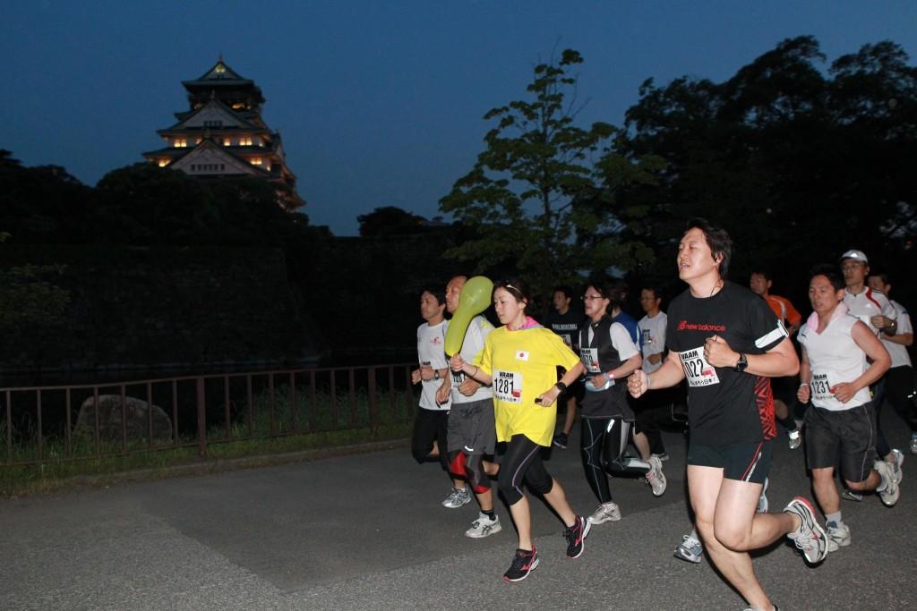 「大阪城公園ナイトラン」の画像