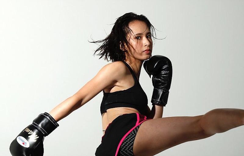 「モデル×ランニング×キックボクシング、相乗効果を楽しむ持永真実さん」の画像