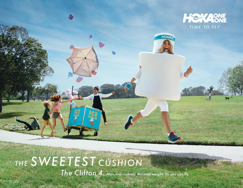 「HOKA ONE ONE が10月5日(木) より「 THE SWEETEST CUSHION キャンペーン」を実施中。「走るマシュマロ」を見つけて Facebookに投稿しよう!」の画像